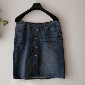 GAP button down jean skirt size 8